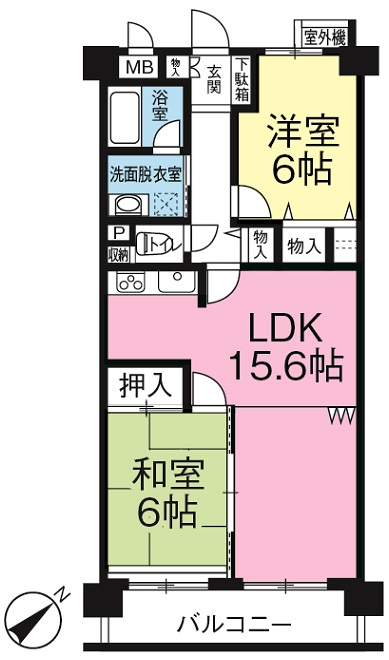 EH富士第5-404間取ペイント